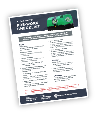 D185T4F Pre-Work Checklist Preview Cover Tilted