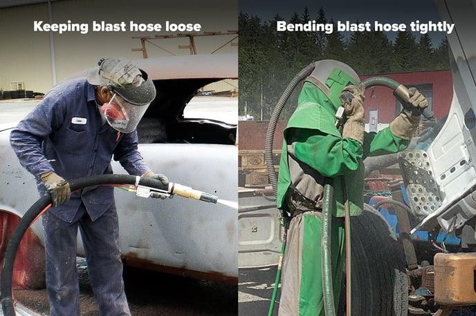blast-hose-handling
