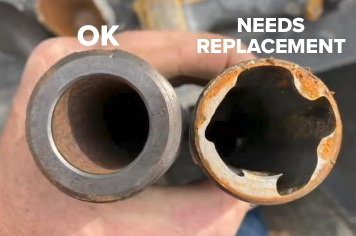 outlet pipe needs replacement 2-1