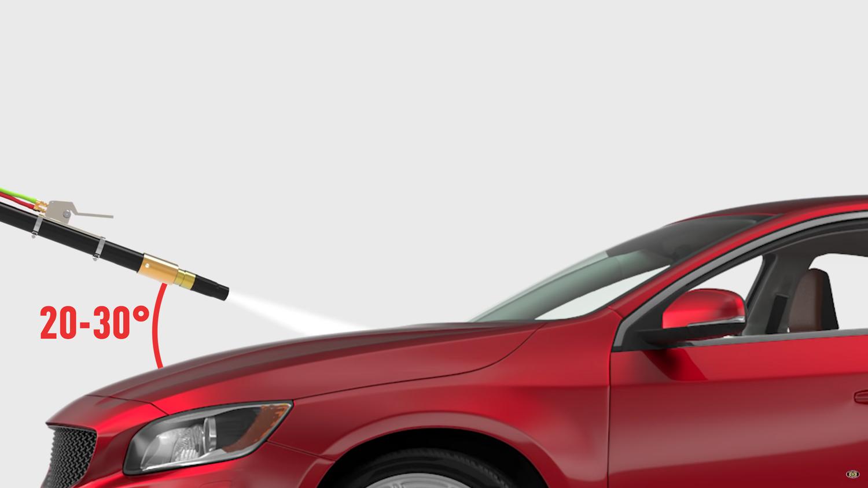car-blasting-hood-angle